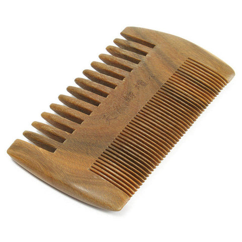 Comb: Wooden Beard and Mustache Comb