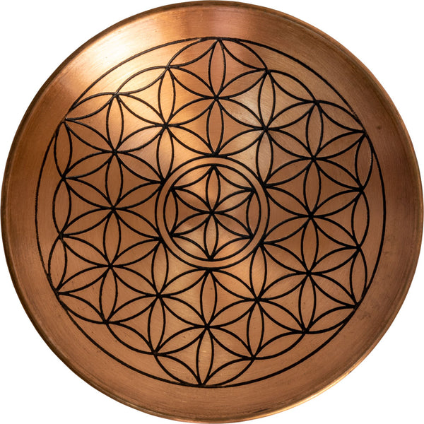 Copper Plate. Flower of Life for Stones, crystals or Meditation