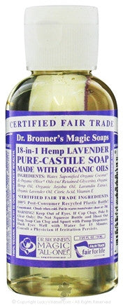Dr. Bronners - Magic Pure-Castile Soap Organic Lavender - 2 oz.