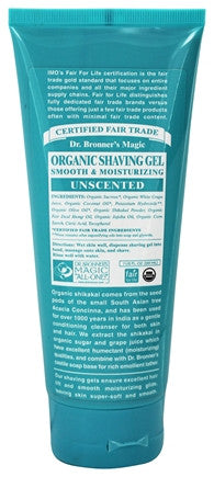 Shaving Gel Unscented: Dr. Bronner