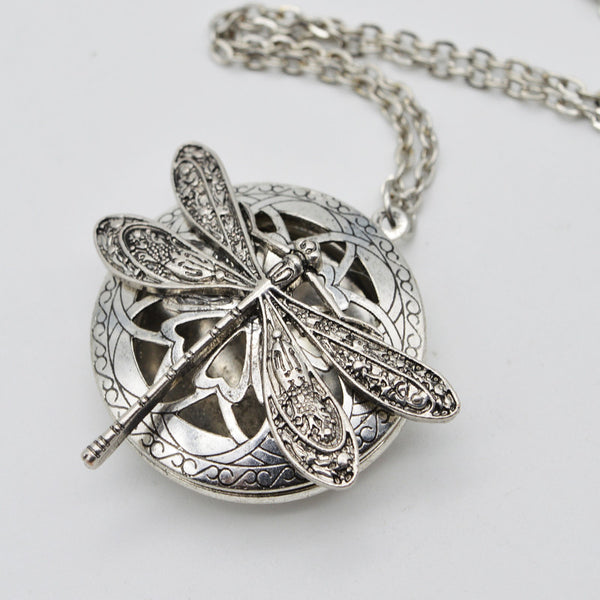 Locket: Dragon Fly Aroma Oil Locket (Necklace)