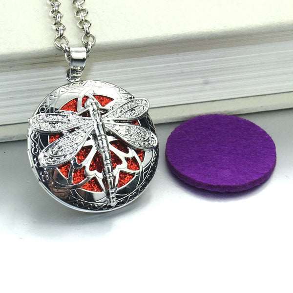 Dragon Fly Aroma Locket Antique (necklace)