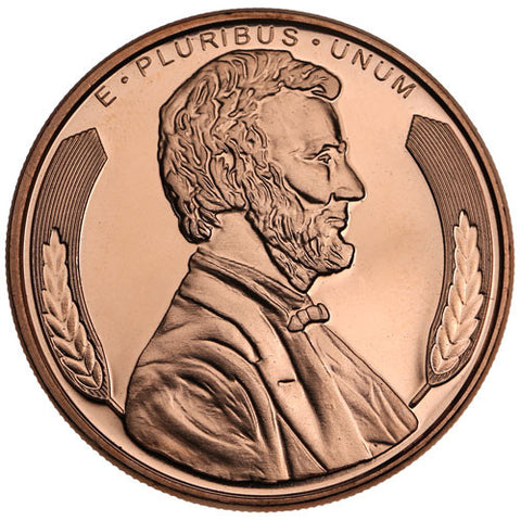Lincoln Head Copper Round Coin (Packed in clear protective capsule)