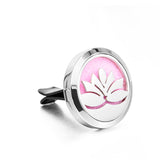 AromaBug™, AromaButton™ CAR VENT DIFUSSER, Tree of Life Oil Aroma Difusser WITH OIL (Car Difusser) (Button) (Air Vent) (Breast Cancer Awareness)