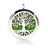 AromaBug™ NECKLACE Aromatherapy LOCKET (Necklace) Lotus Flower & Tree of Life (Silver, Gold & Black)