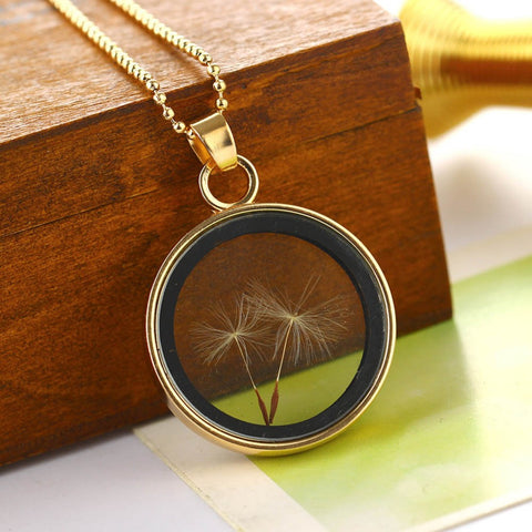 Necklace: Clear Dandelion Seed