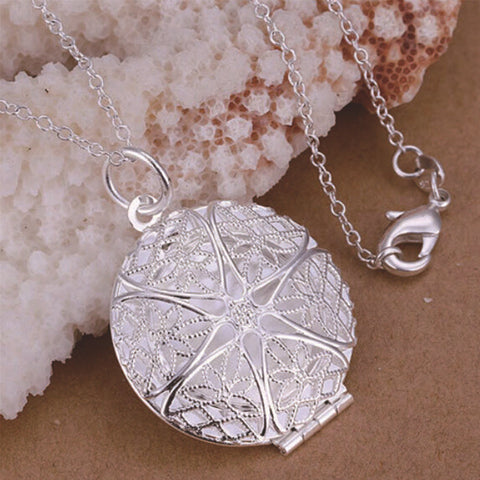 Necklace: Pendant Locket Sterling Silver - No Chain