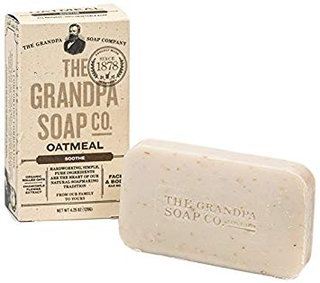 Oatmeal Bar Soap. Grandpa Soap Co. Face and Body