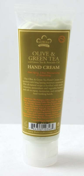 Olive Butter and Green Tea Hand Cream 4 oz.