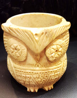 Burner: Owl Soapstone Smudge Pot (Sage)