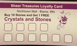 Punch Card Loyalty Program for Stones and Crystals