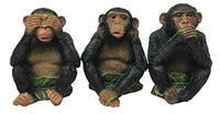 Hear, Speak and See No Evil Monkey figurines. Set of 3