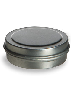 Tin Flat container 1/2 oz. with slip lid. (6 pack)