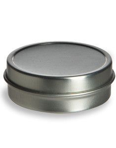 Tin Flat container 1oz. with slip lid. (6 pack)