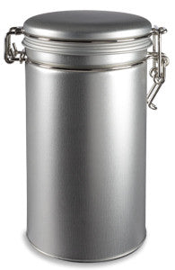 Tin: Aluminum Tea Tin with Locking Latch