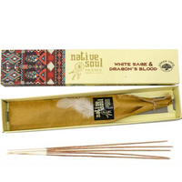 Incense: White Sage and Dragons Blood Incense Sticks 15g