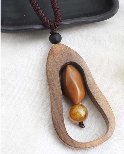 Wooden Necklace for Men and Women (Pendant)