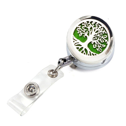 AromaBug™, Aroma I.D.™ Badge Clip Holder (Retractable cord)  5 Designs