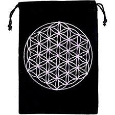Bag: Flower of Life Velvet Bag (stone)