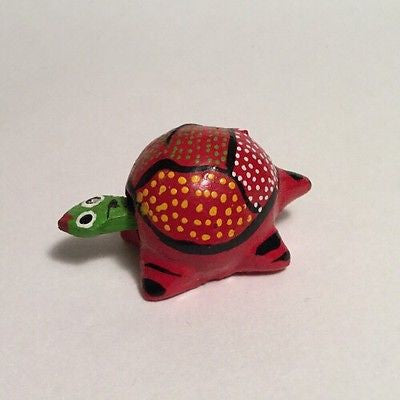 Bobble Head Wooden Turtle (Toy)