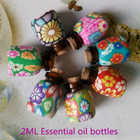 Bottle: 1 ml. Mini Glass Essential Oil 1ml with Cork  5 pack