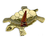 Brass Turtle Incense Burner