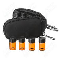 Case: Aromatherapy sample vial Keychain Case.