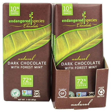 Dark Chocolate with Deep Forest Mint Cocoa  candy