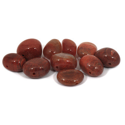 Stone: Fire Stone Drilled Agate (Hole Drilled)
