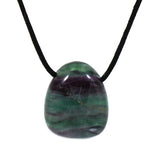 Stone: Fluorite Tumbled and Hole Drilled. Wax Cord Included
