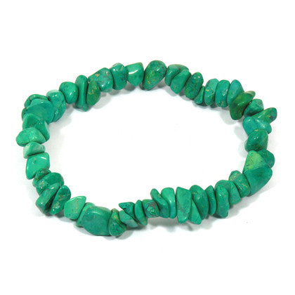 Stone: Malachite Chip Bracelet