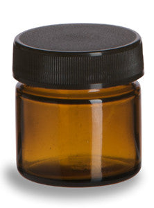 Jar: Amber Glass .85 oz.