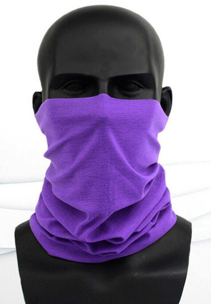 Mask: Scarf Pull-up Type. Variety of Solid Colors (Free Shipping)