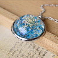Necklace: Dried Flower in Glass Bubble