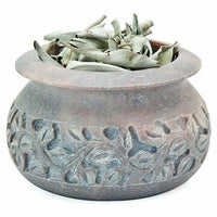 Smudge Pot Soapstone