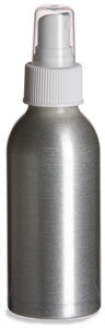 Aluminum Bottle 4oz w/ White Atomizer Pump (3 pack)