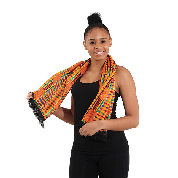Scarf: Kente African Design  Use as Scarf or Sash (FREE SHIPPING)