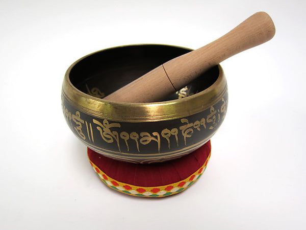 Singing Bowl: 6 inch Tibetan Singing Bowl with Wooden Mallet (Out of Stock)