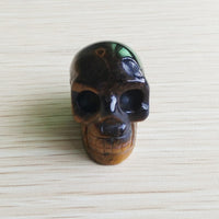Tiger Eye Skull Bead Necklace (Stone)
