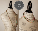 Bohemian Multi-Colored Sequin Gold Long Necklace