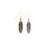 Bohemia Feather Antique Gold Brass or Silver Earring - Spunky Soul Collection
