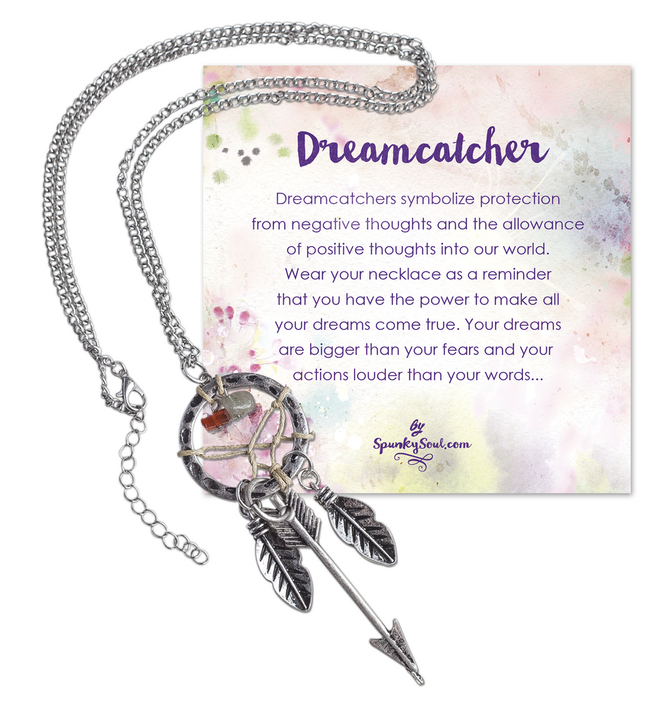 Bohemia Dreamcatcher Pendant Long Feather & Arrow Necklace