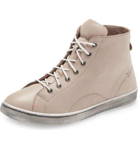 ALESE Hi-Top Sneaker in Stone