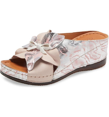 KAYLIE WEDGE SLIDE SANDAL - BLUSH