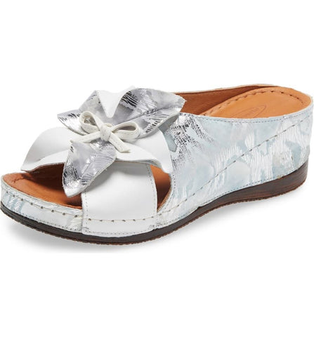 KAYLIE WEDGE SLIDE SANDAL - ICE