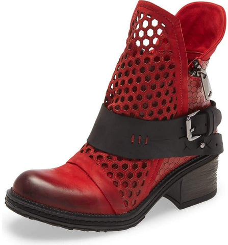 SASHA Red Bootie