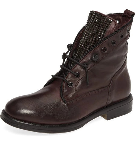 """Spark"" Bordo Leather Bootie"