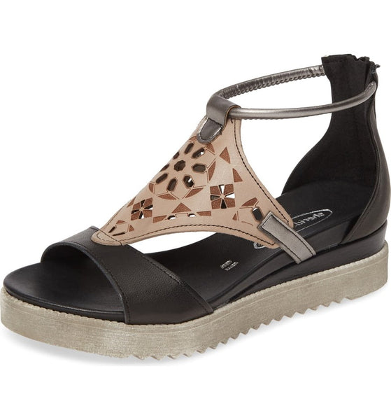 Blaze Leather Sandal in Black Combo