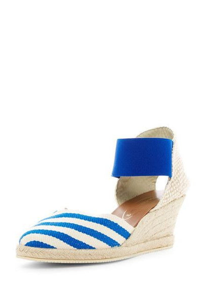 """Inez"" Spanish Espadrilles in Blue"
