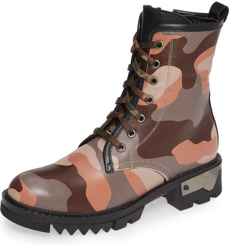 MICAH Grey Camo Leather Bootie